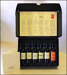 Photograph of Seghesio sample wines