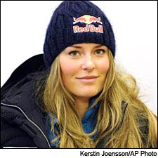 Photograph of Lindsey Vonn by Kirsten Joensson/AP Photo
