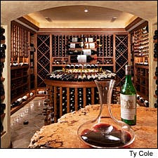 Photograph of Hank Uberoi's cellar