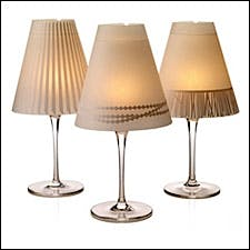 Photograph of DeKoop wineglass lamp shades