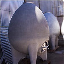 Photograph of Sonoma Cast Stone's new egg fermentor
