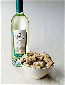 Photograph of Gallo bottle with corks