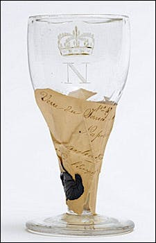 Photograph of wineglass from Josephine collection