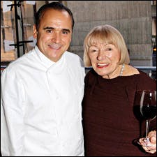 Photograph of Margrit Mondavi and Jean Georges Vongerichten