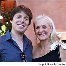 Photograph of Beth Nickel and Joshua Bell
