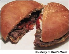 Photograph of the Kroll's West Butter Burger