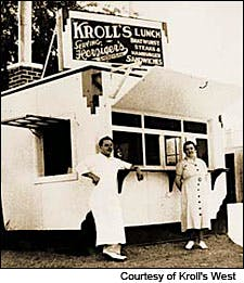 Photograph of original Kroll's Hamburger Stand