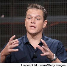 Photograph of Matt Damon by Frederick M. Brown/Getty Images