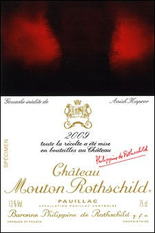 Mouton-Rothschild 2009 label by Anish Kapoor