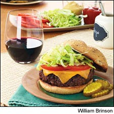 Home-Ground Burgers With Bacon, Cheese and Fresh Thyme
