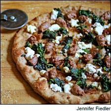 Grilled Lamb Merguez Sausage Pizza