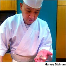 Photo of chef Keiji Nakazawa by Harvey Steiman