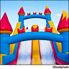Photograph of inflatable bouncy castle by iStockphoto