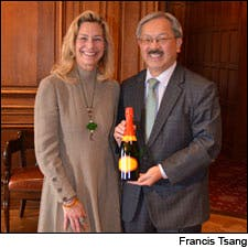 Photograph of Joy Sterling and Mayor Ed Lee by Francis Tsang