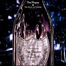 Image of David Lynch Dom Pérignon bottle