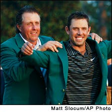 Phil Mickelson and Charl Schwartzel.