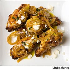 Wings Dressed With Lemon, Herb and Feta