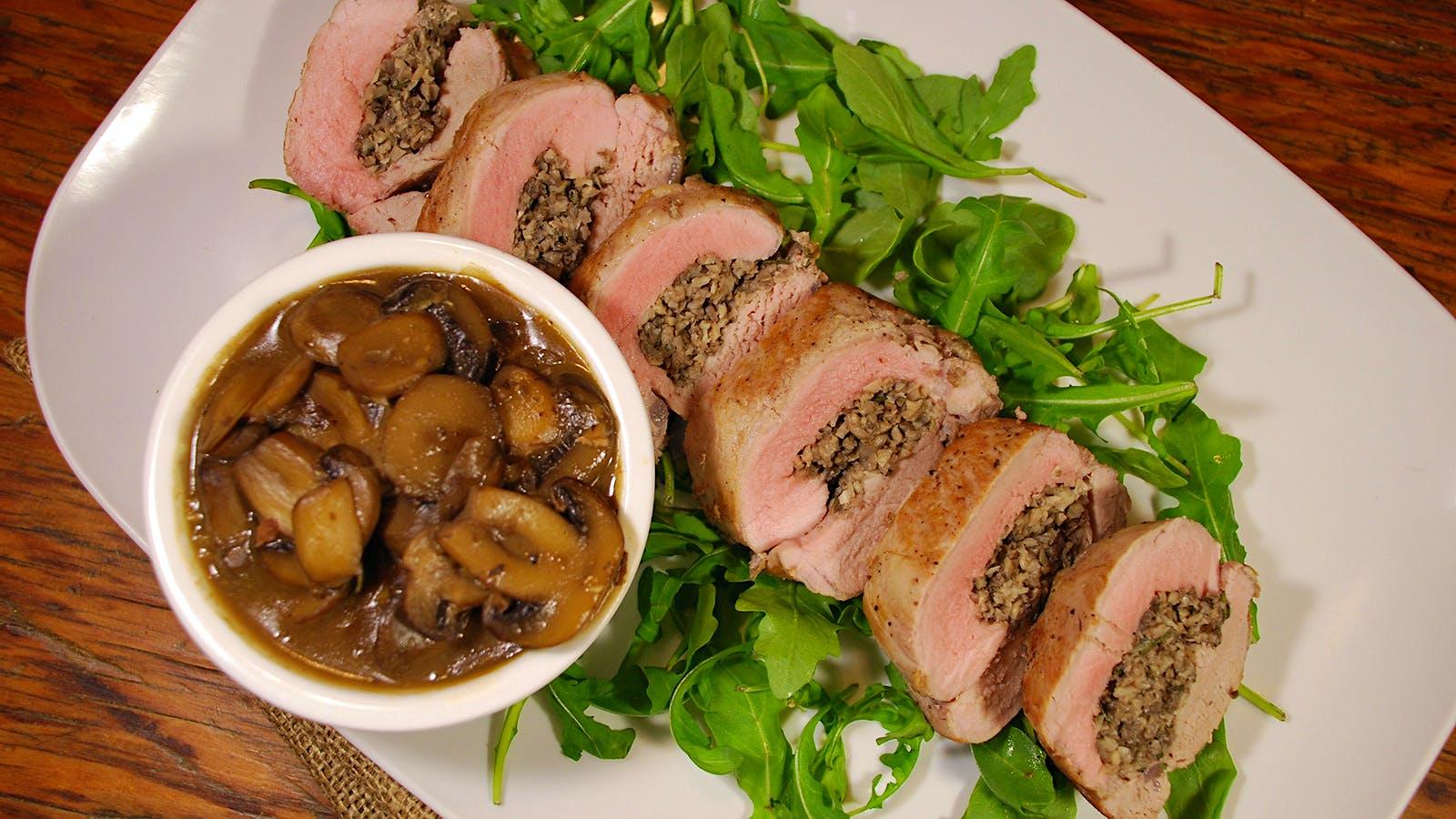 8 & $20 Recipe: Mushroom-Stuffed Pork Tenderloin
