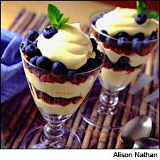 Blueberry parfait, photo by Alison Nathan