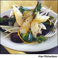 Beet, Pear, and Fennel Salad with Orange Vinaigrette photo by Alan Richardson