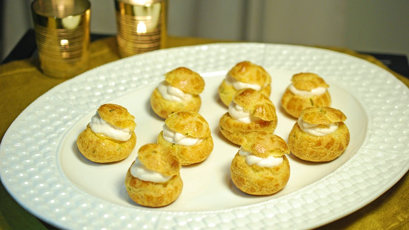 8 & $20: Salmon and Goat Cheese Puffs