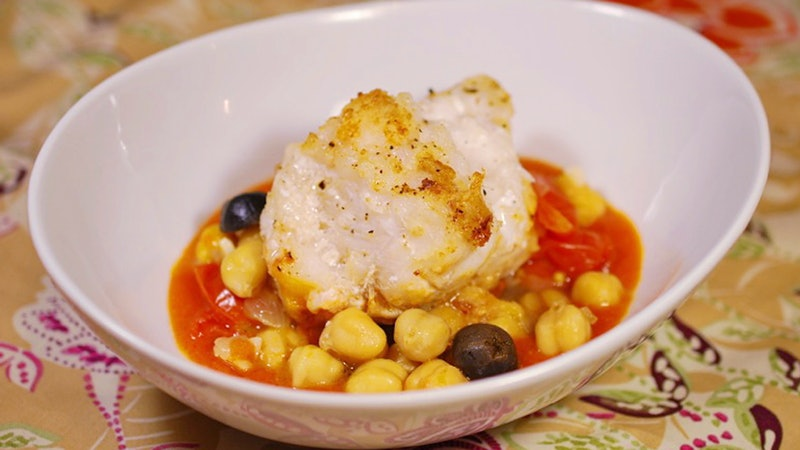 8 & $20: Monkfish With Warm Chickpea Salad