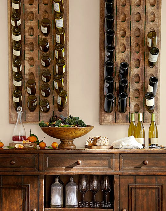Give the gift of bubbly seasonal news features for Pottery barn wine rack wood