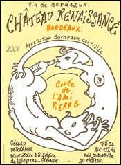 Château Renaissance wine label by Tignous