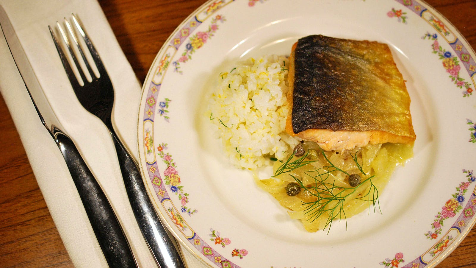 8 & $20: Arctic Char With Orange-Scented Fennel and Onions