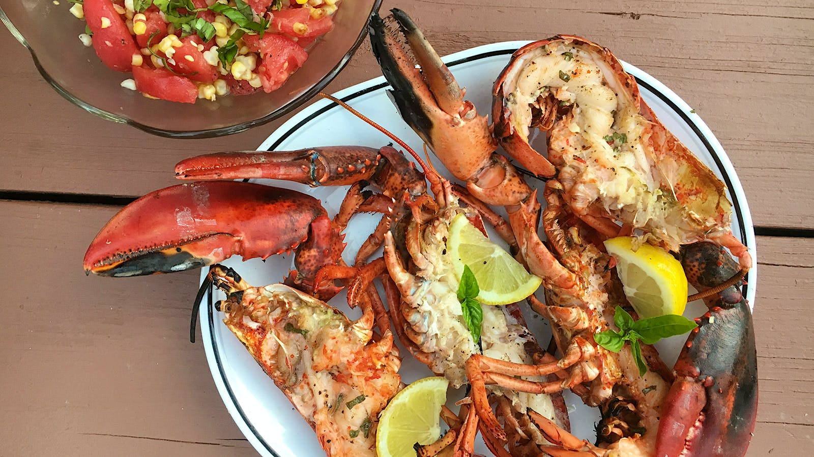 8 & $20: Grilled Lobsters with a Juicy Portuguese White
