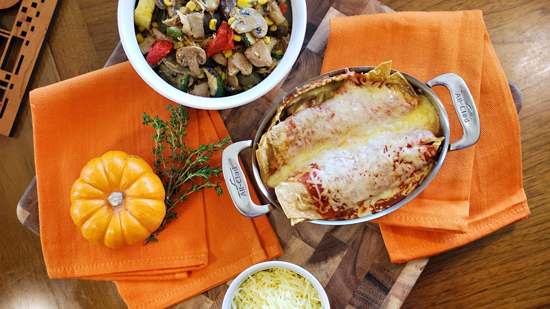 8 & $20: Turkey Enchiladas Paired with Chardonnay