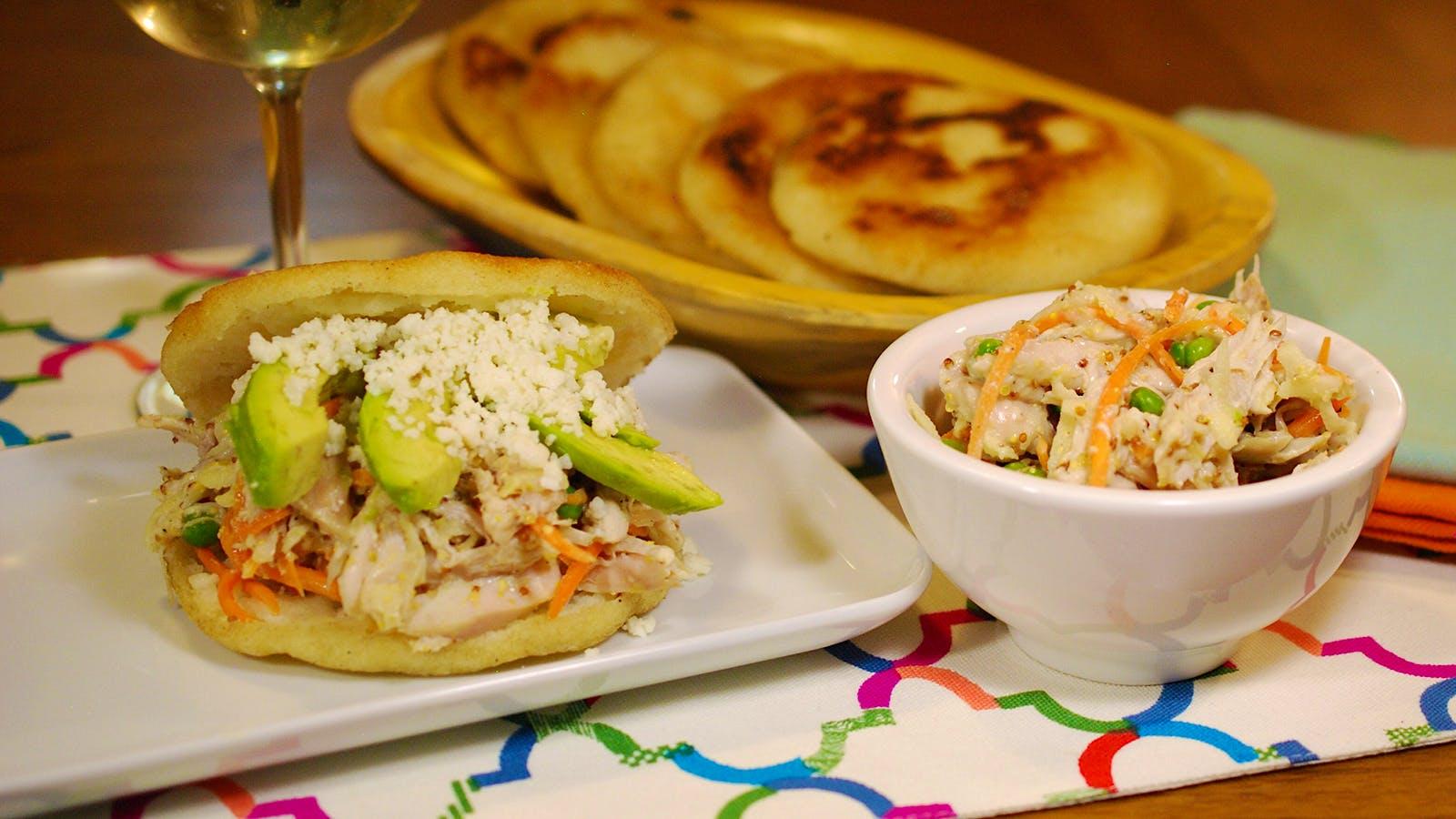 8 & $20: Arepas with Venezuelan Chicken Salad