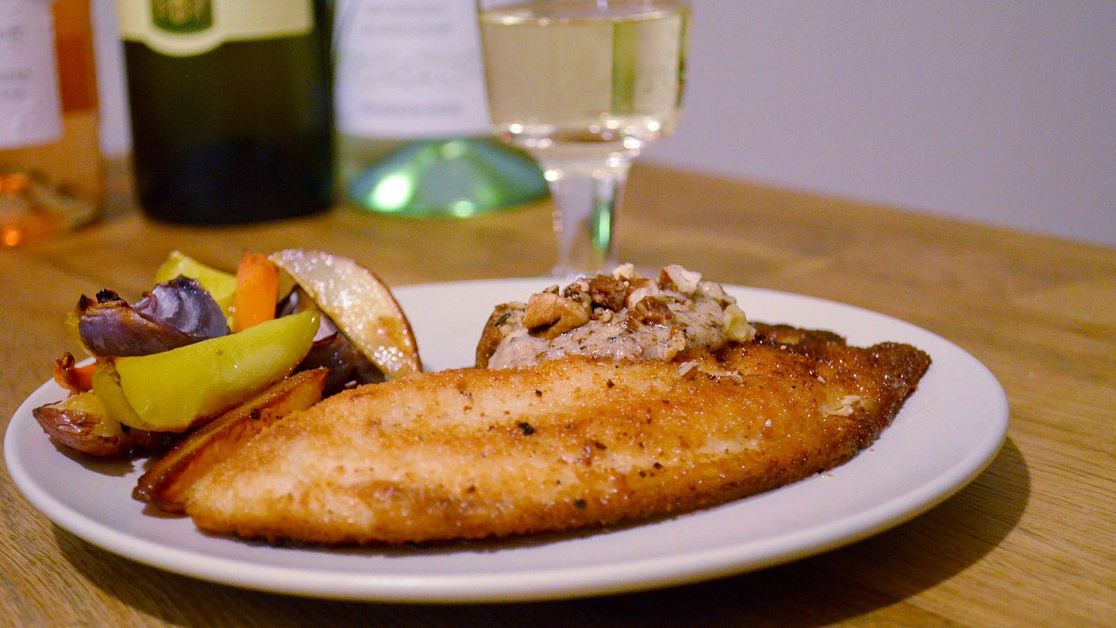 Rainbow Trout with Homemade Nut Butter