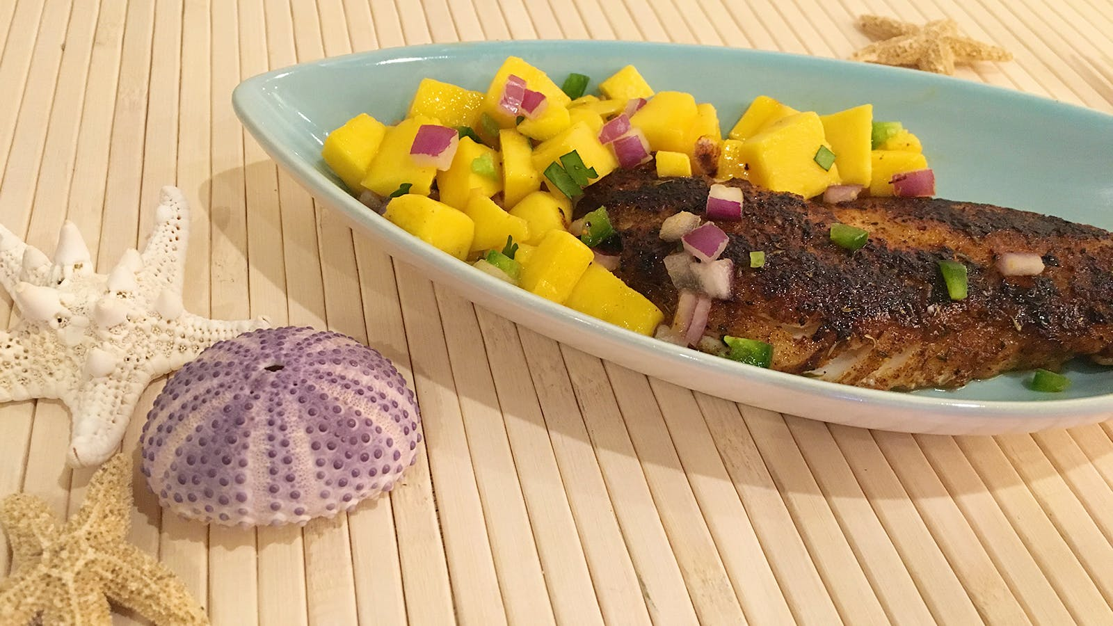 Blackened Snapper with Spicy Mango Salsa