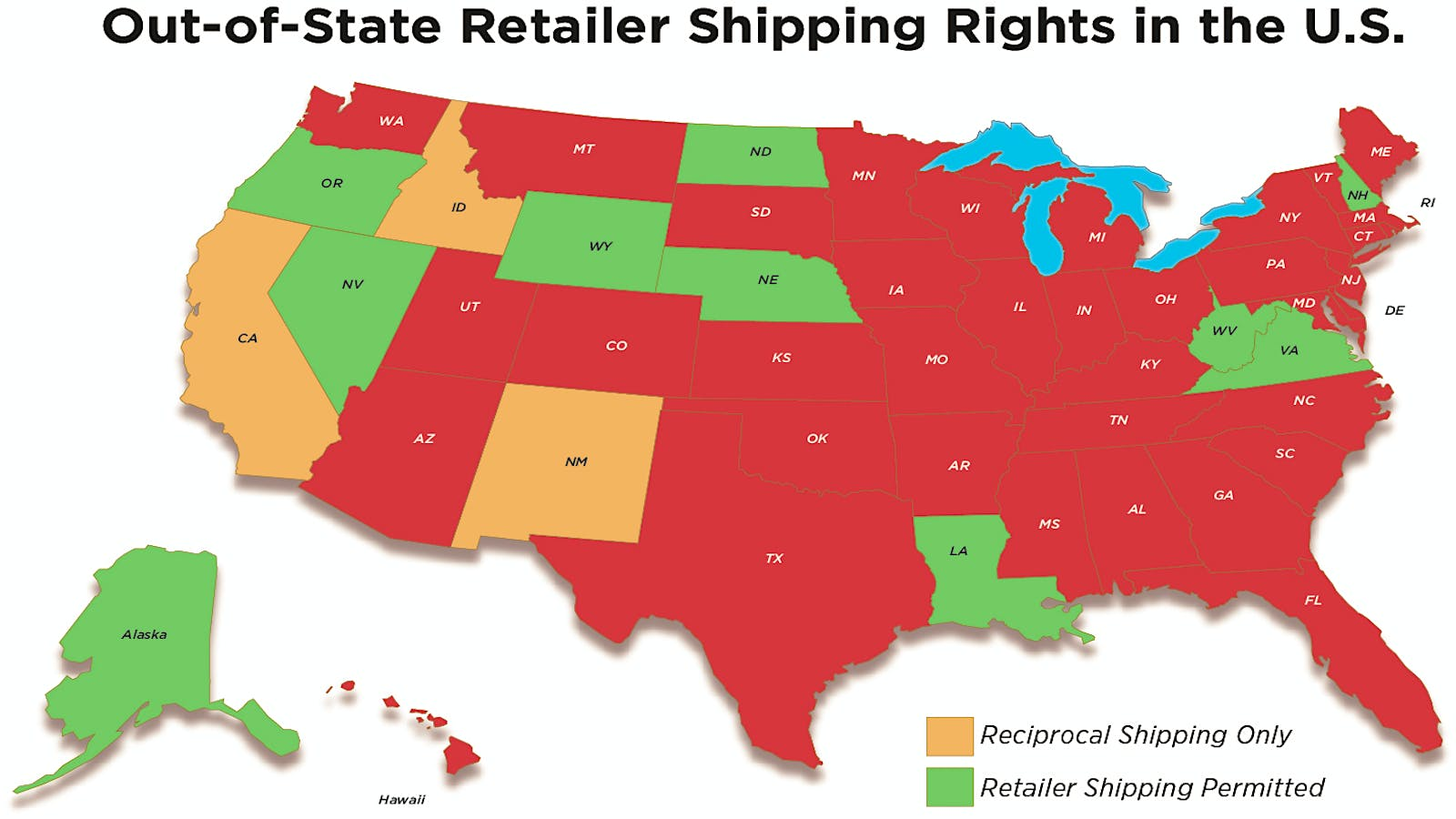 U S  Wine Shipping Laws, State by State | Wine Spectator