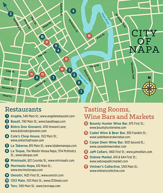 Napa Travel Guide Downtown Dining Renaissance Features