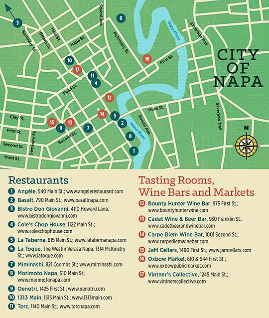 City of Napa venue map