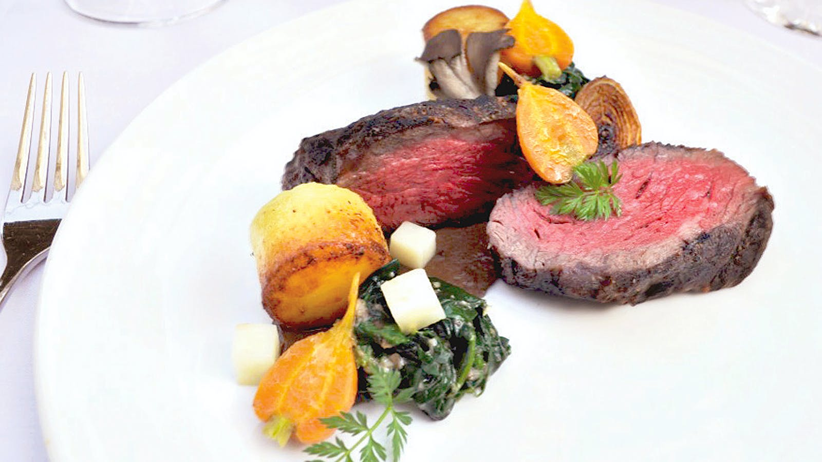 Steak with Fondant Potatoes