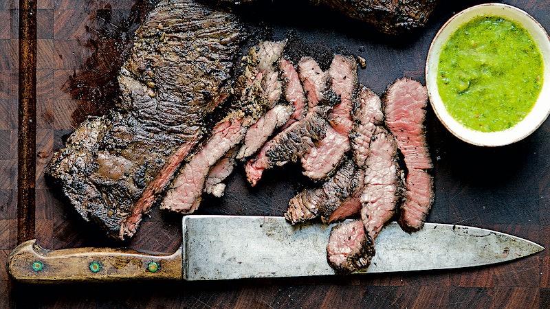 Nancy Silverton's Garlic-Rubbed Steak with Scallion Vinaigrette to Celebrate the New Year