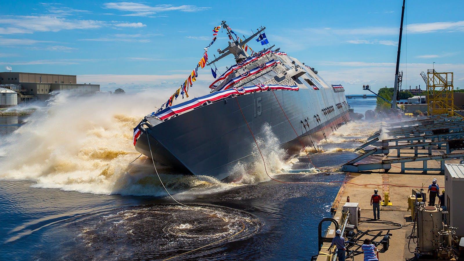$300 Million Warship Christened with $8 Wine