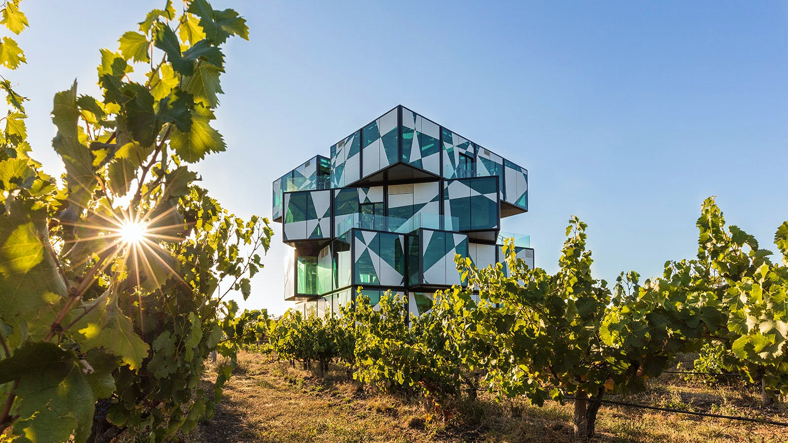 Extremely Trippy Giant Wine Rubik's Cube Arises in Australia