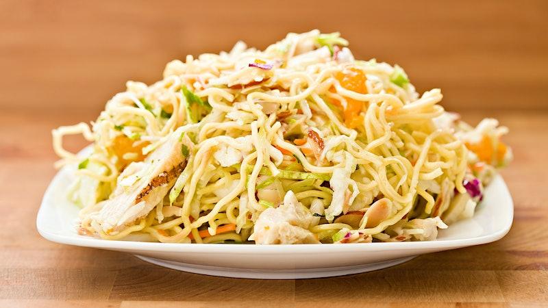 8 & $20: Ramen Noodle Chicken Salad with a Crisp White
