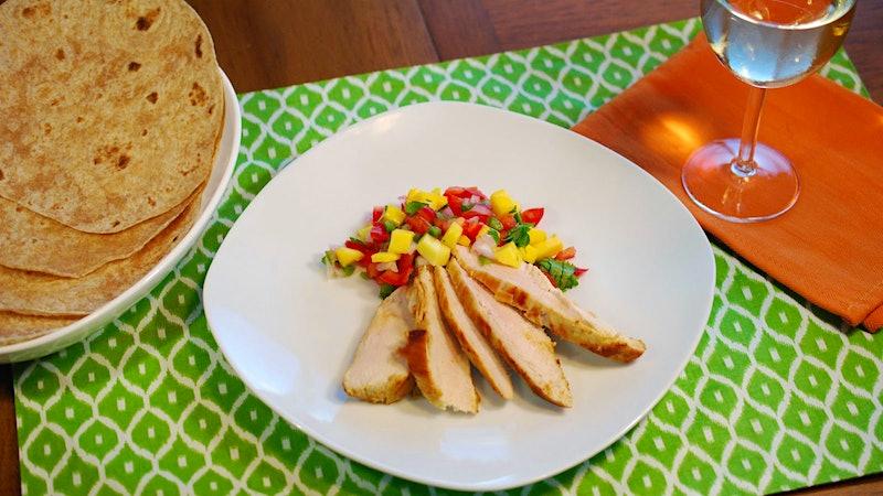 8 & $20: Grilled Chicken with Spicy Mango Salsa