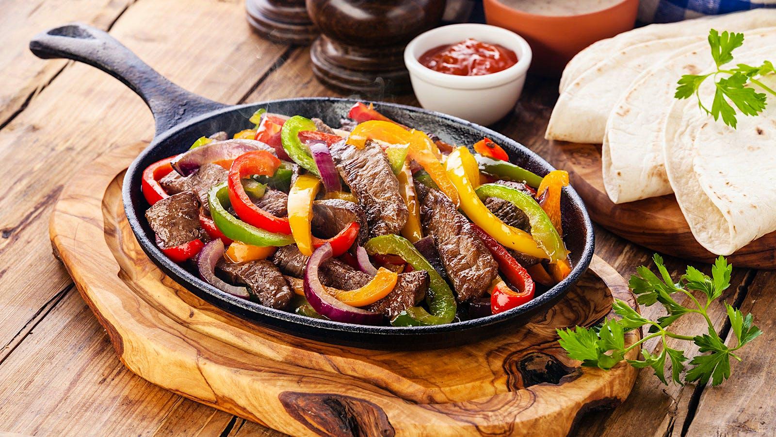 8 & $20: Steak Fajitas