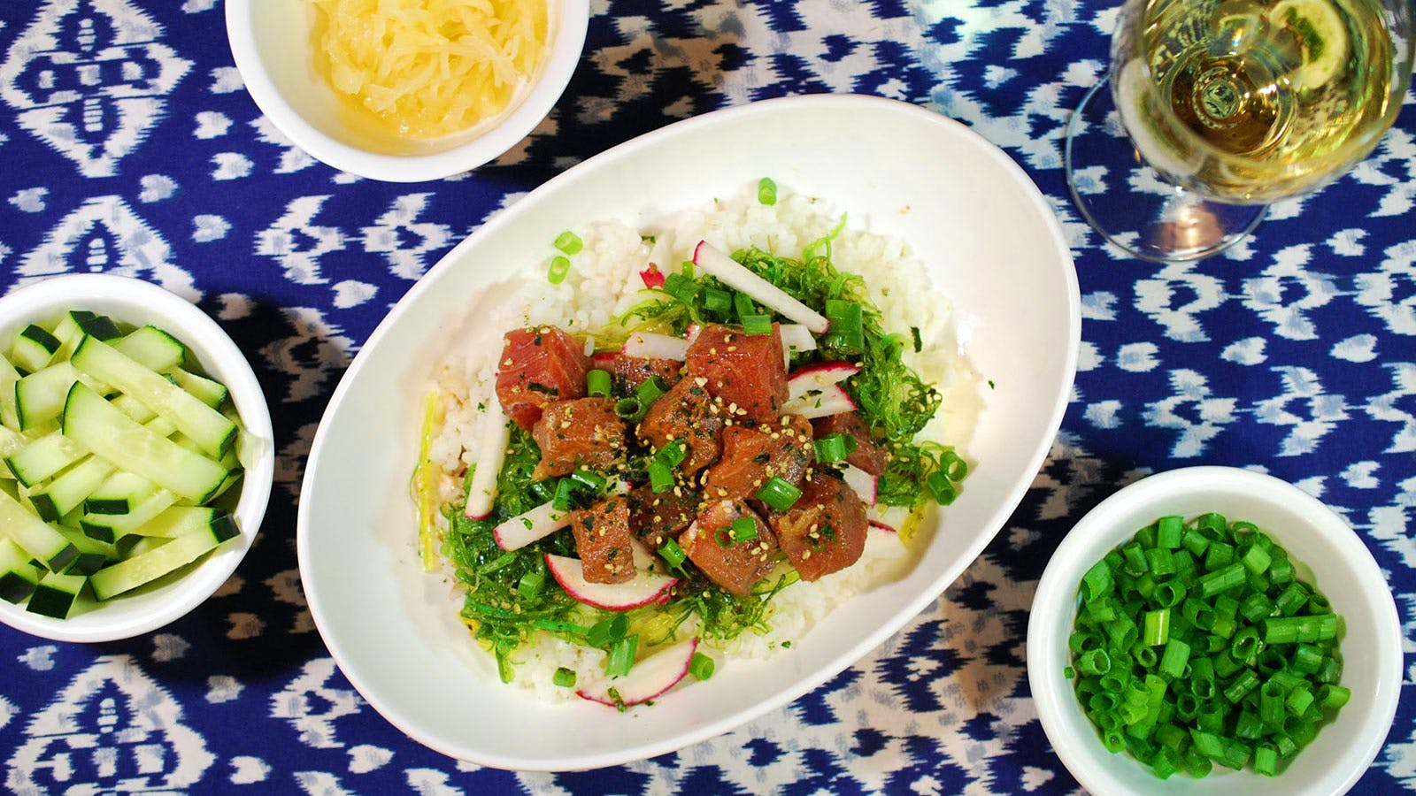 8 & $20: Spicy Tuna Poke Bowl