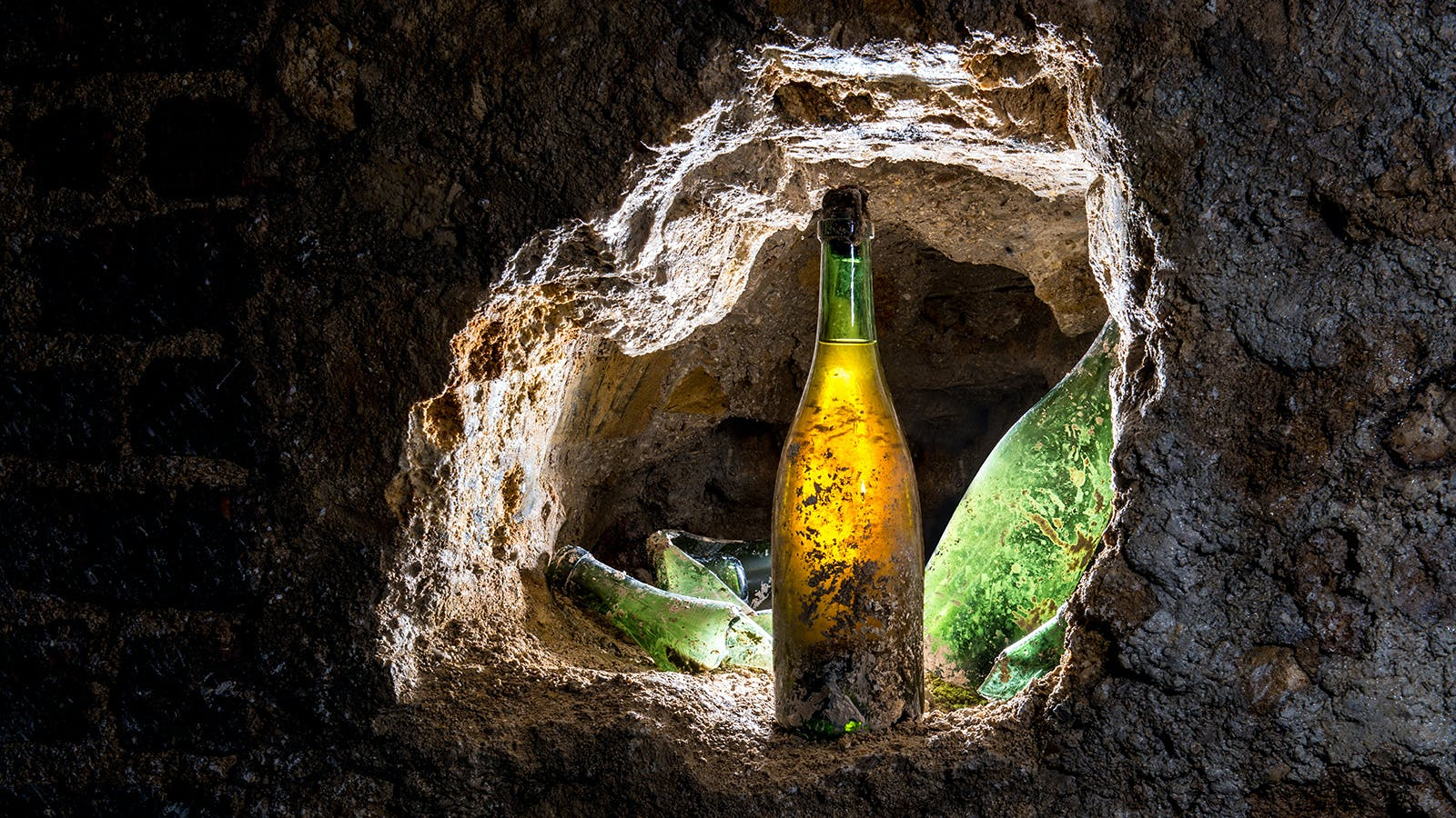 Buried Bubbly Could be Buried Treasure   Wine Spectator