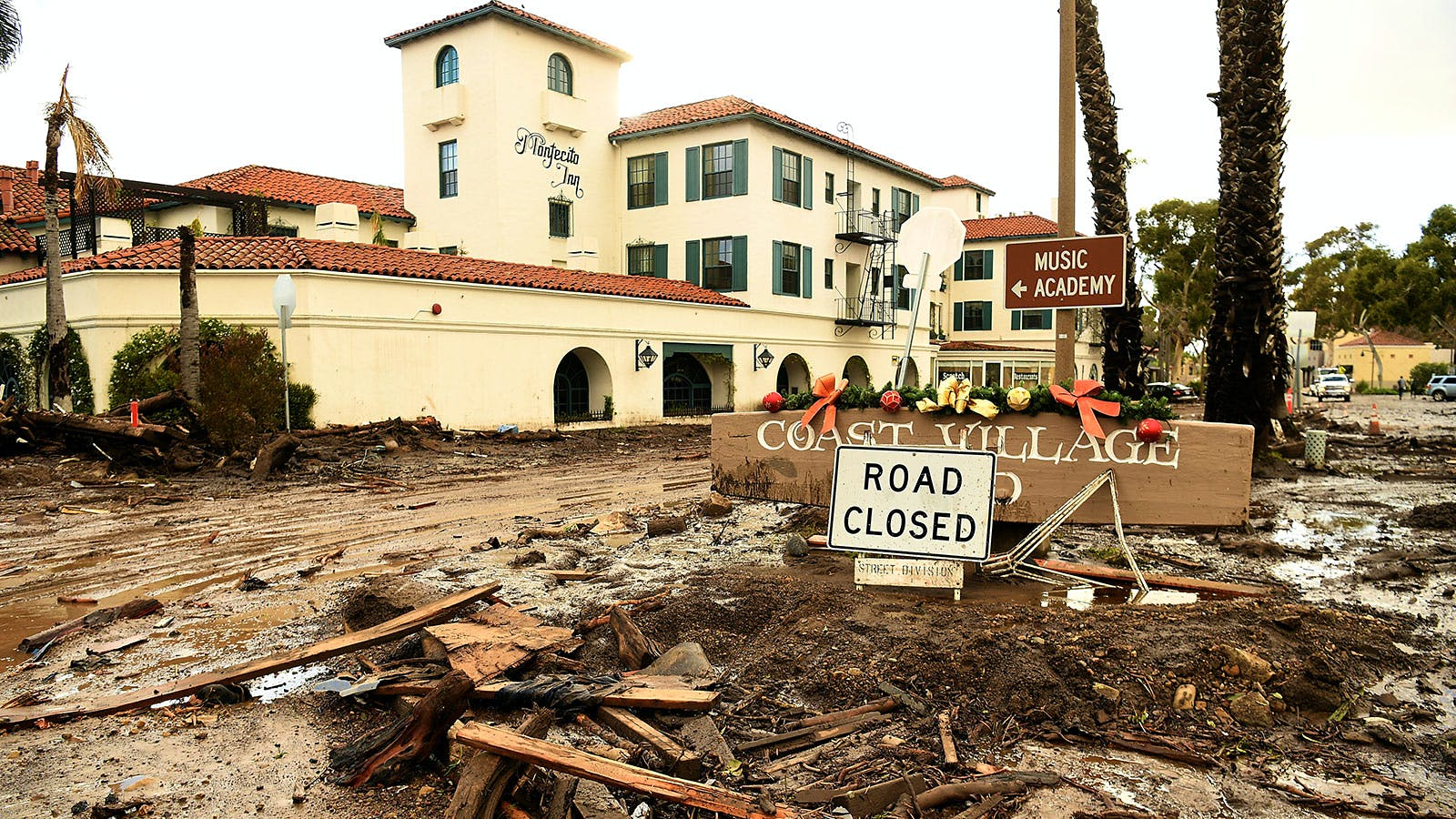 Devastating Mudslides Kill 21 in Santa Barbara County; Historic San Ysidro Ranch Resort Sustains Heavy Damage