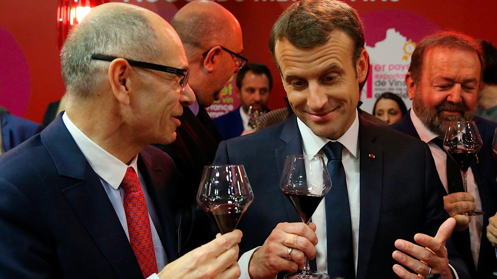 Emmanuel Macron Declares Wine O'Clock for Lunch and Dinner, Snaps Winemaker Selfies