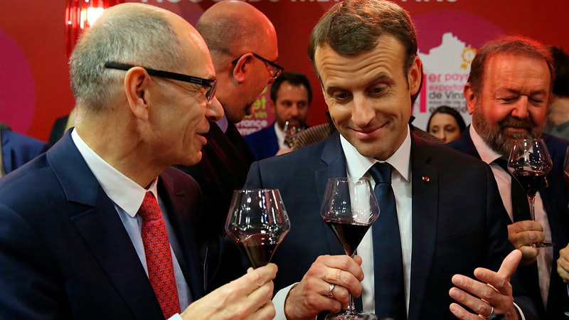 Emmanuel Macron Declares Wine O'Clock for Lunch and Dinner, Snaps Winemaker Selfies