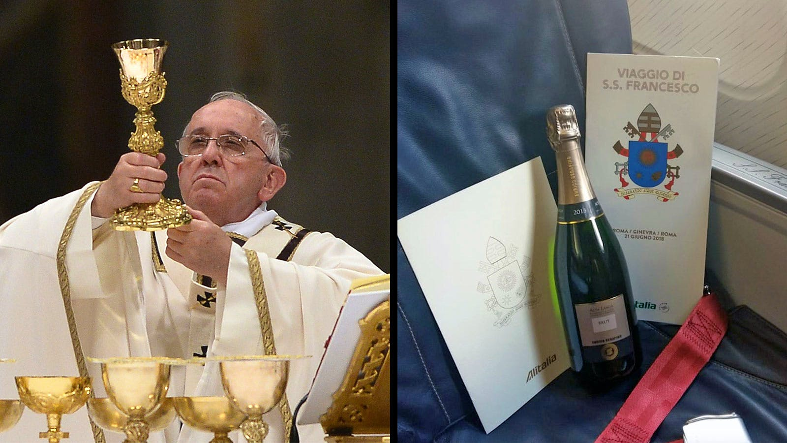 Francis' In-Flight Wine on Air Pope One